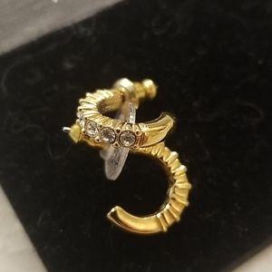 SWAROVSKI New Tennis Half Hoop Gold Earrings